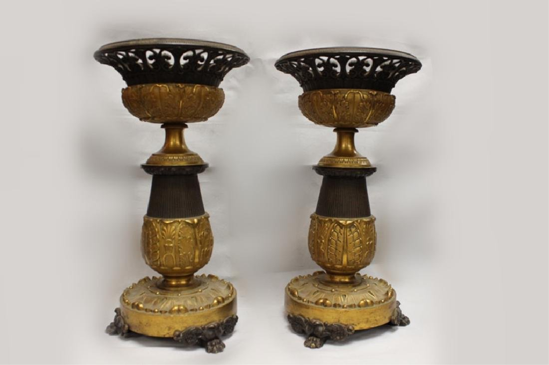 Pair of Early 19th.C Bronze Centerpiece