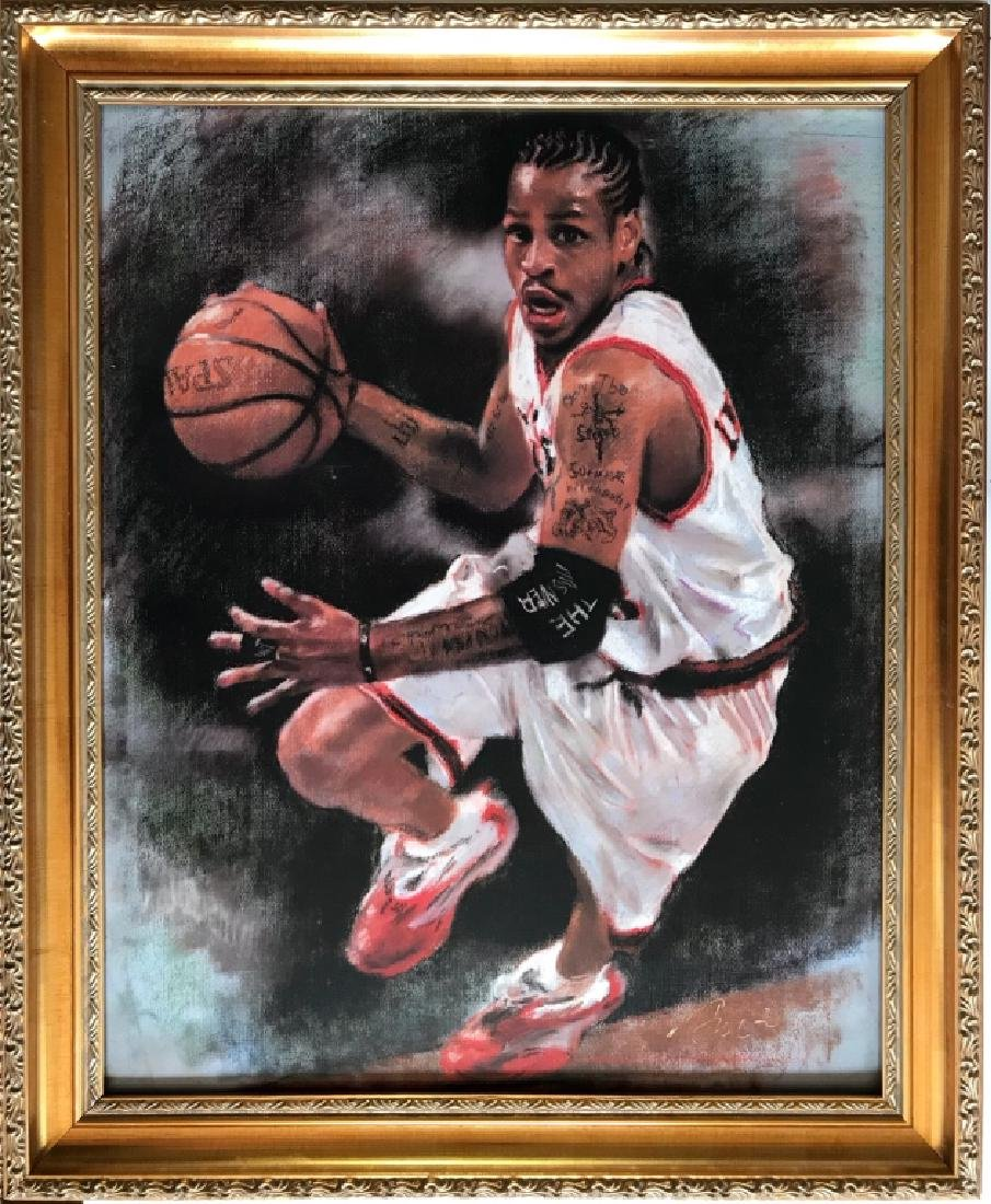 A Printing Painting of Basketball Player,