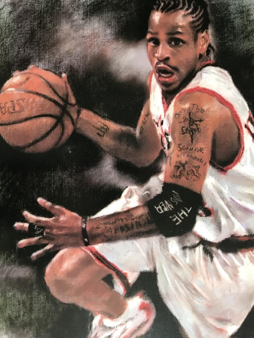 A Printing Painting of Basketball Player, - 3