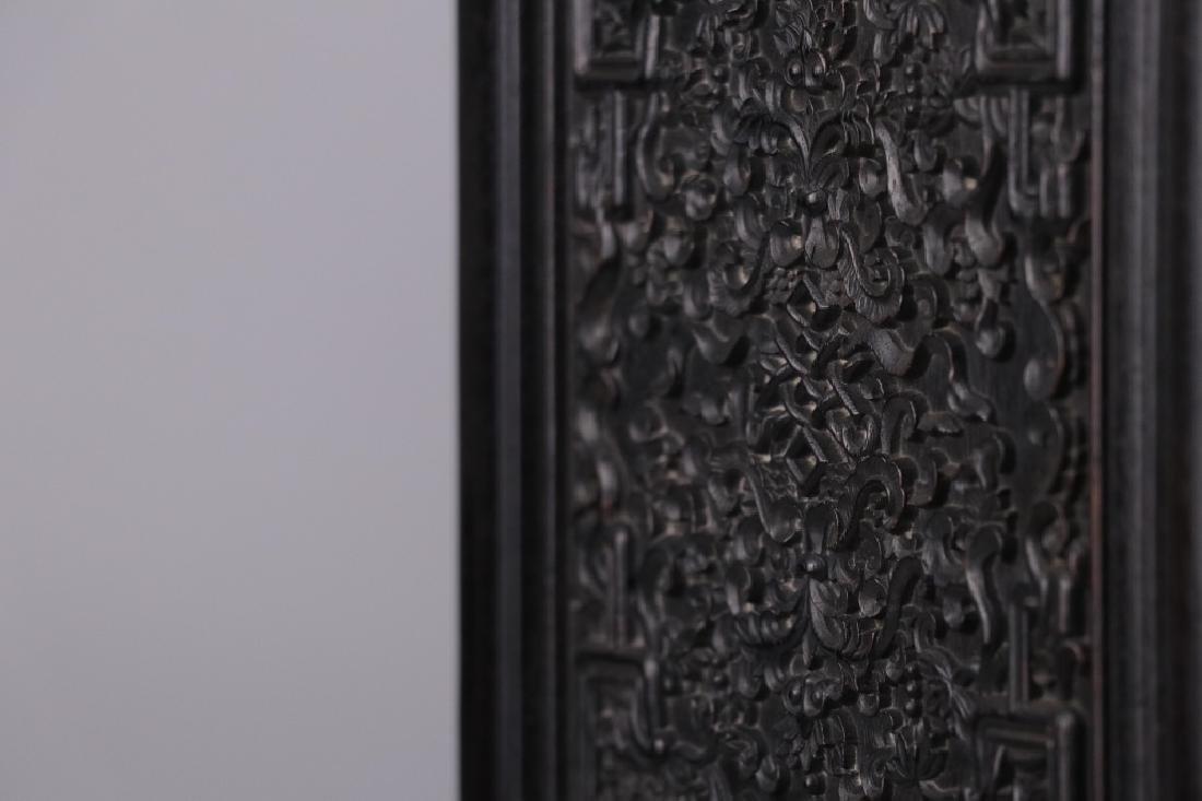 19th.c Chinese Zitan Wood Cabinet - 10