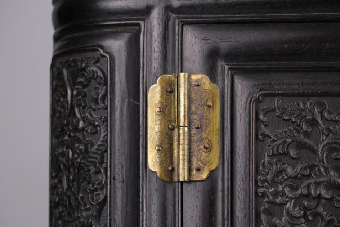 19th.c Chinese Zitan Wood Cabinet - 6