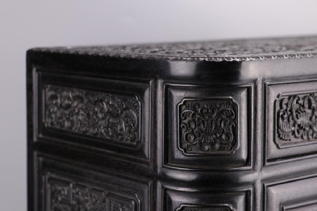 19th.c Chinese Zitan Wood Cabinet - 8