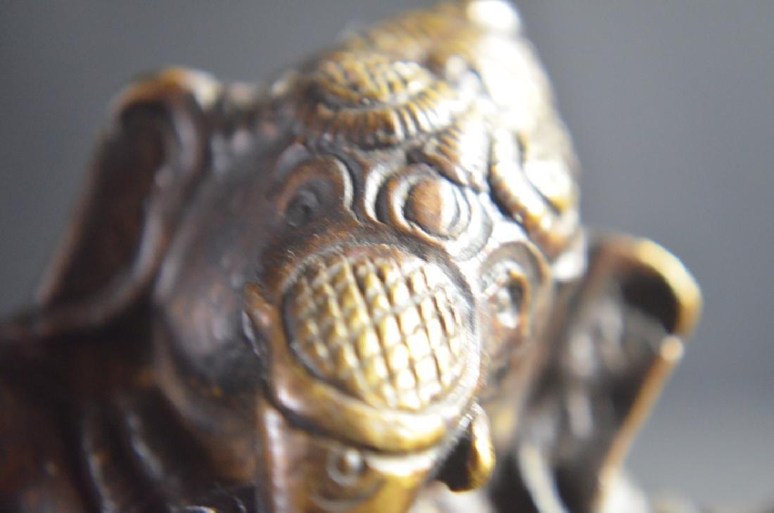 18th.C-19th.C Tibetan Bronze Buddha - 6