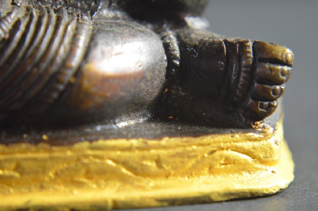 18th.C-19th.C Tibetan Bronze Buddha - 8