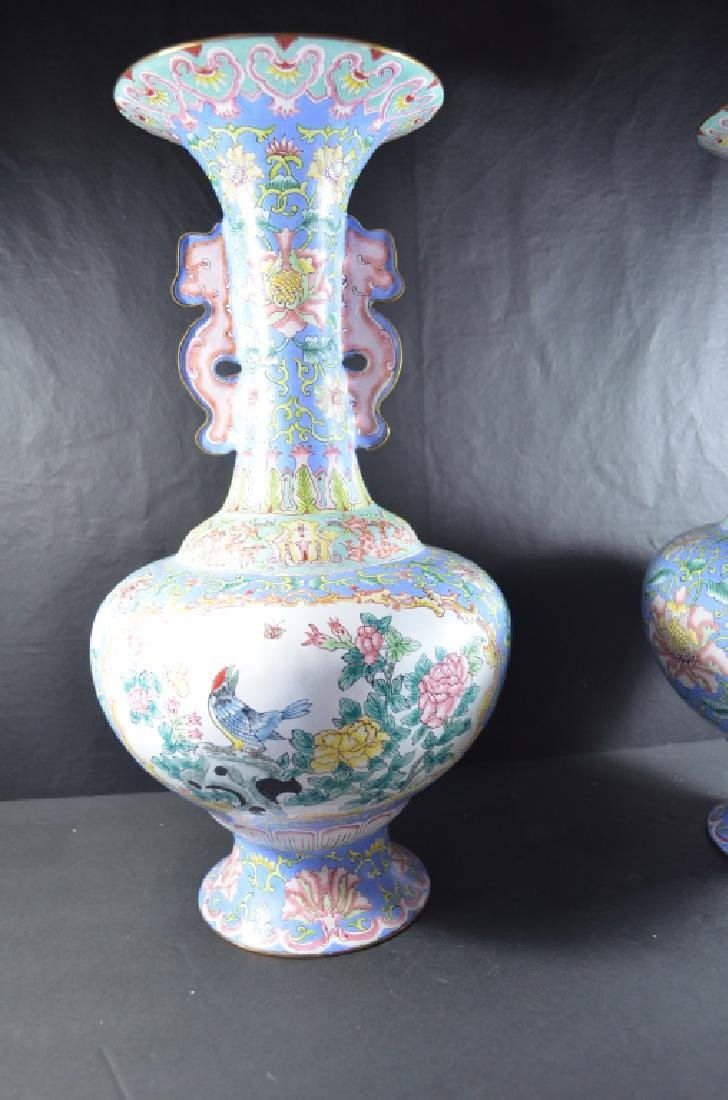 Pair of Chinese Cloisonne Vase - 3