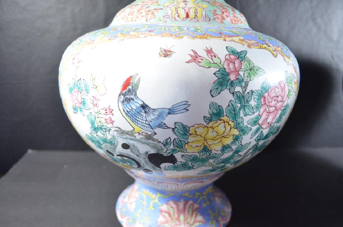 Pair of Chinese Cloisonne Vase - 4