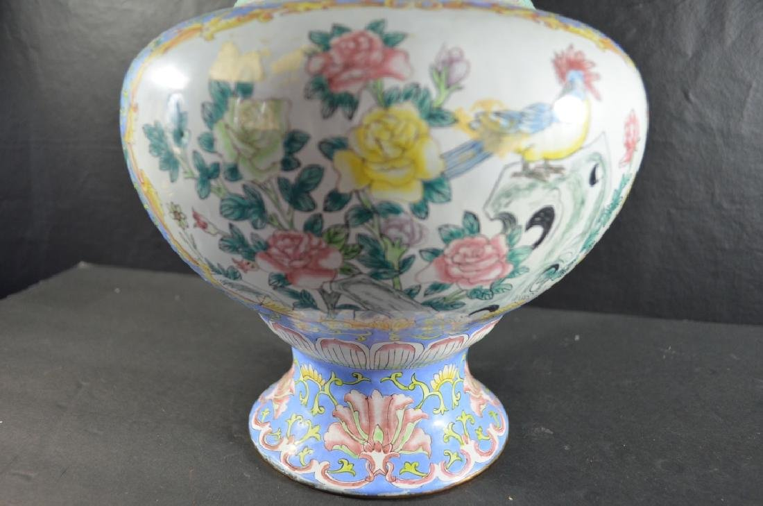 Pair of Chinese Cloisonne Vase - 7
