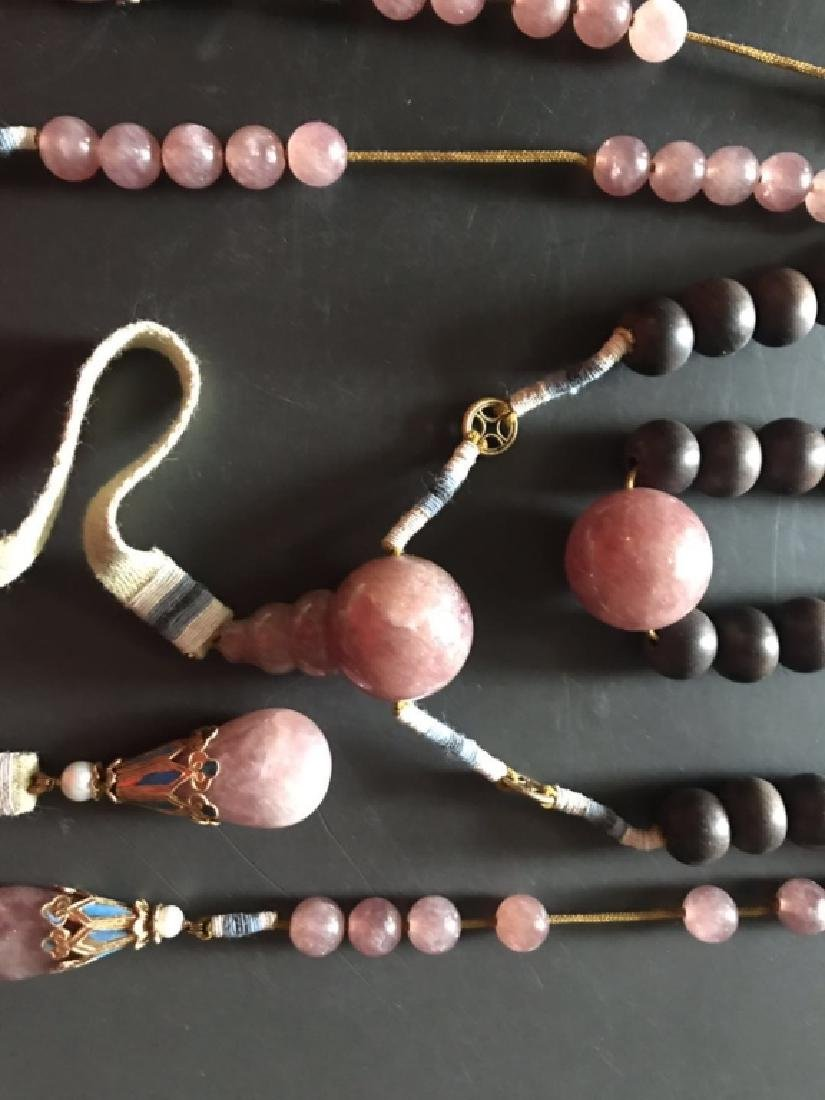 Qing Chinese Chengxiang Wood Beads Necklace w Tour - 5