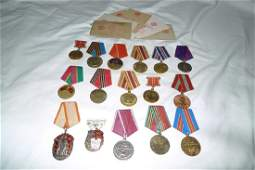 Russian USSR  WW2 and post WW2 medals