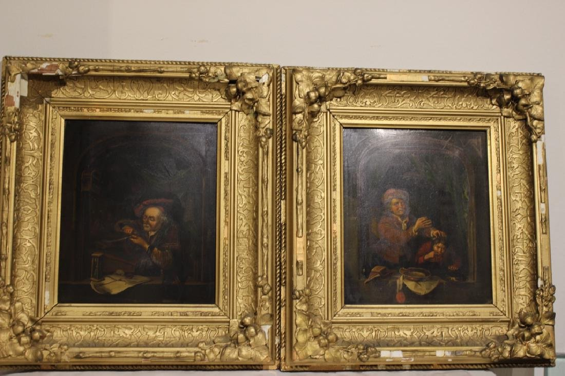 2 Oil on Canvas, Early 19th.C