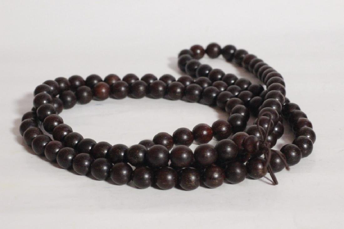 Chinese Zitan Wood Beads Necklace