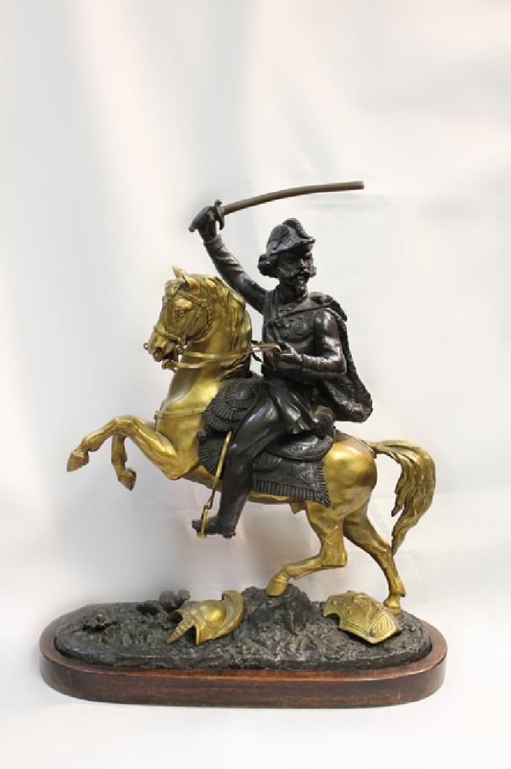 Empire Bronze Patinated Gilt Bronze Soldier