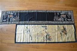 A pair Antique Chinese Silk Panel