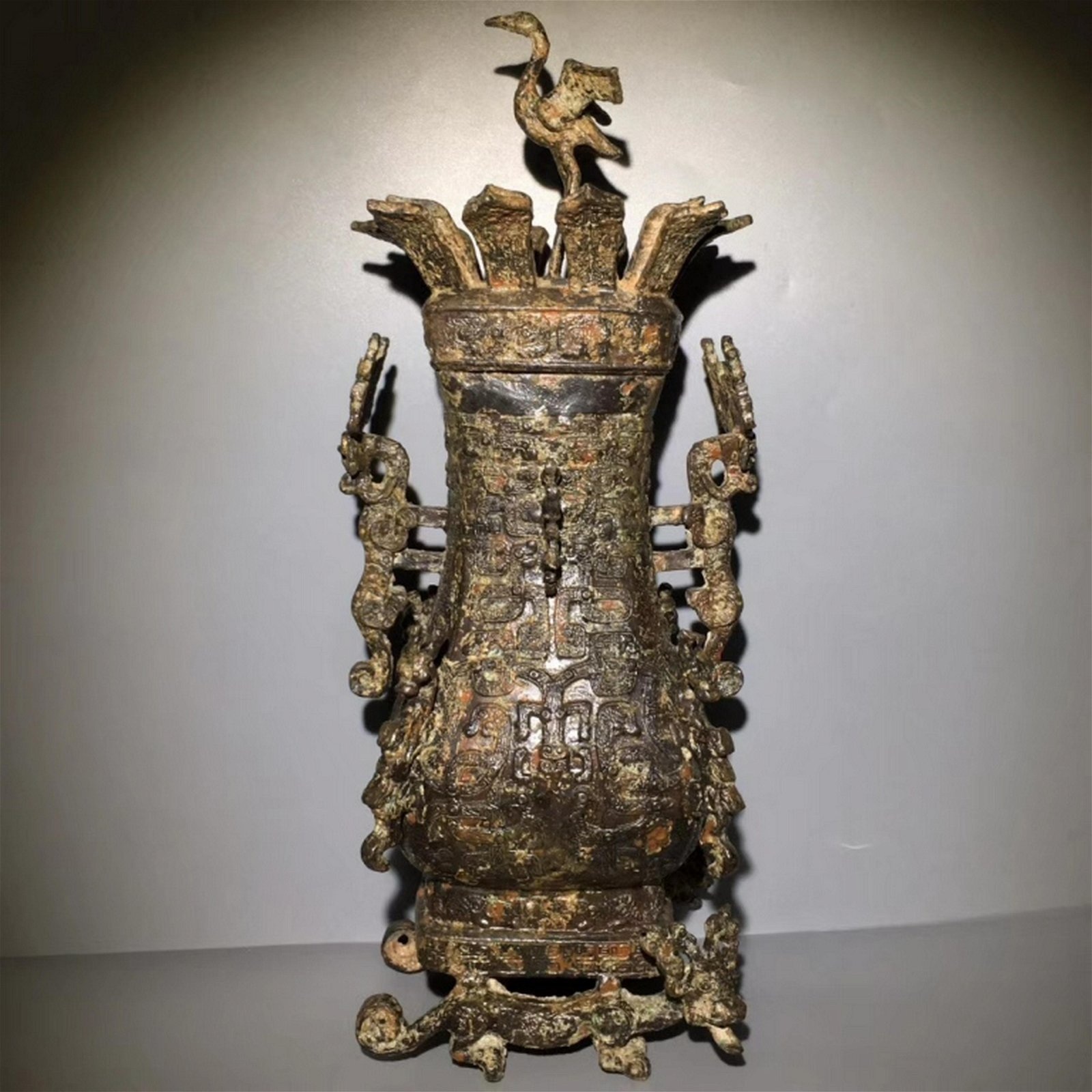 Chinese Bronze Cover VAse