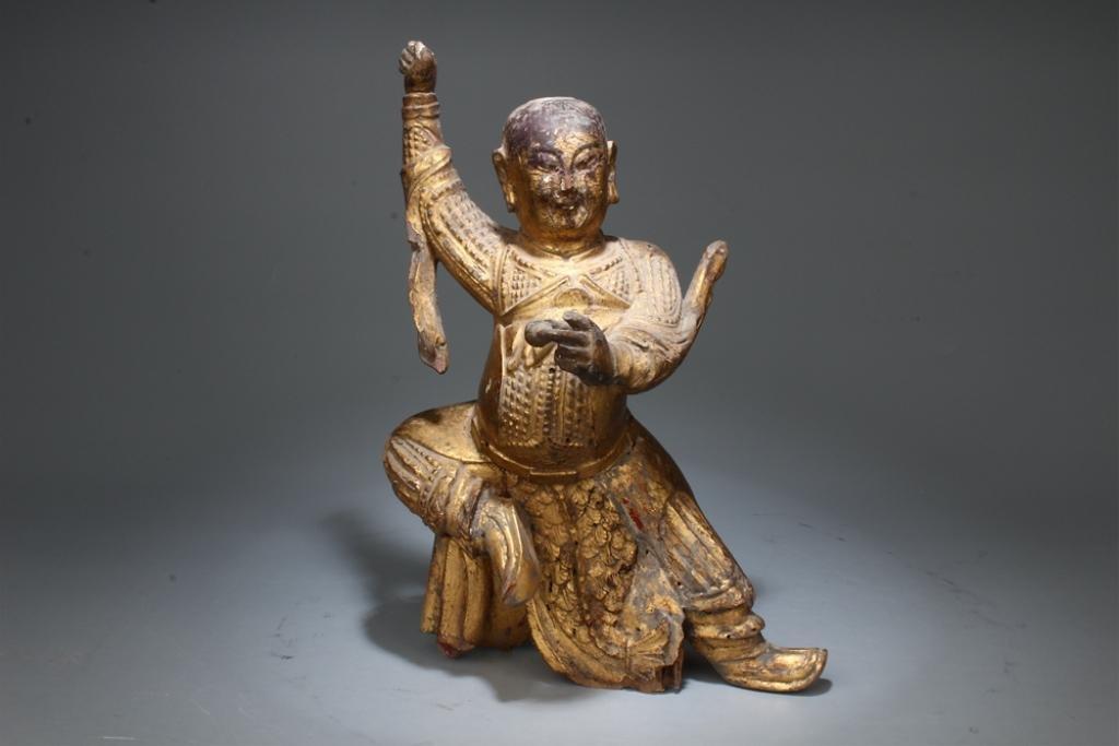 Mid-Qing Chinese Gilt Wood Buddha