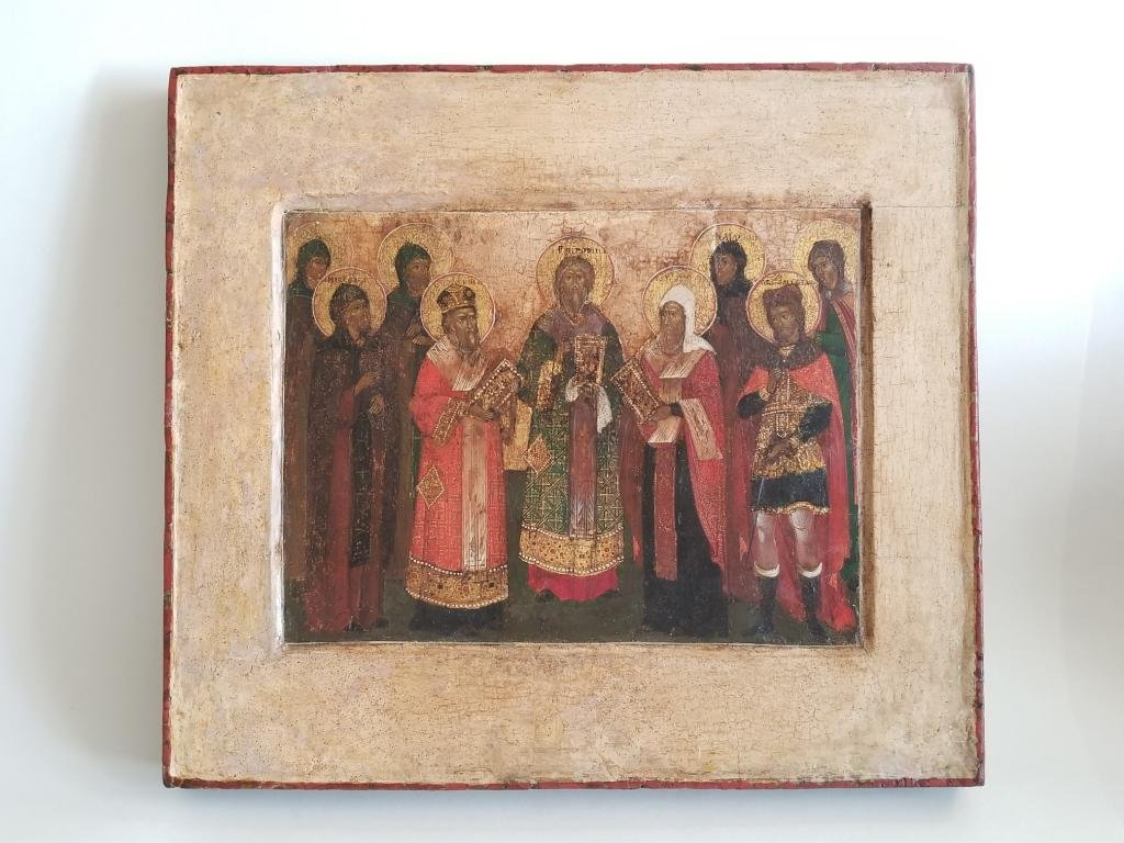 18C Russian Icon of Selected Saints
