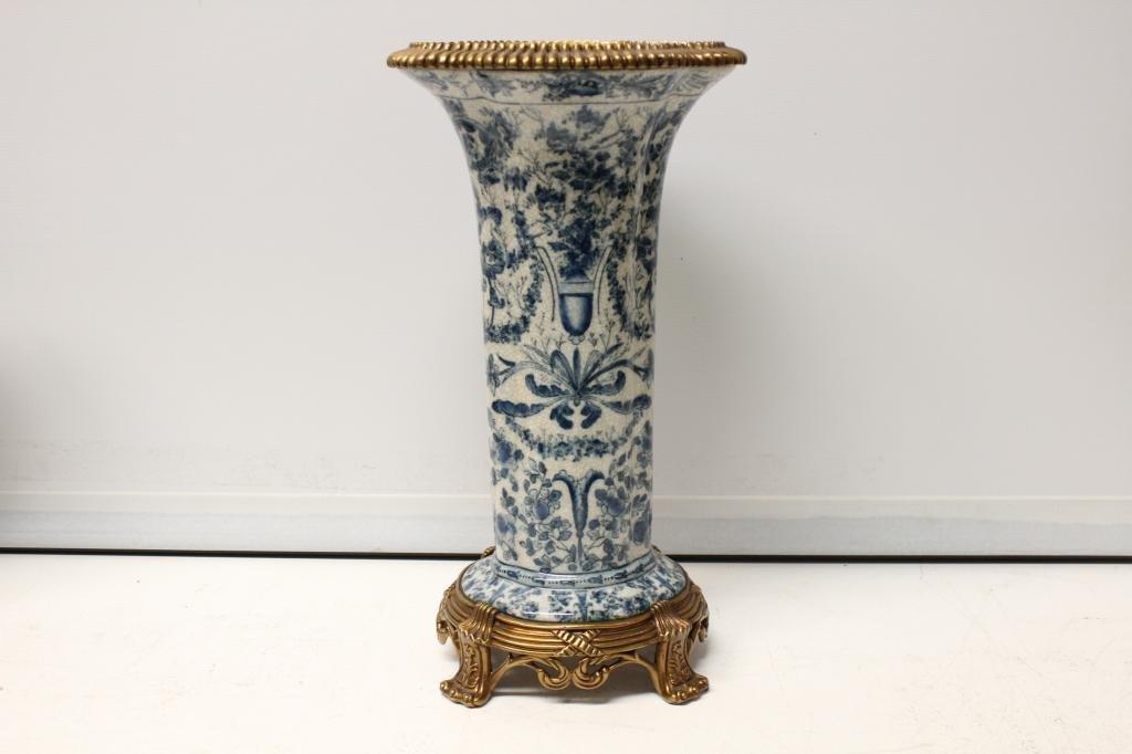 Porcelain Vase w Bronze Mount