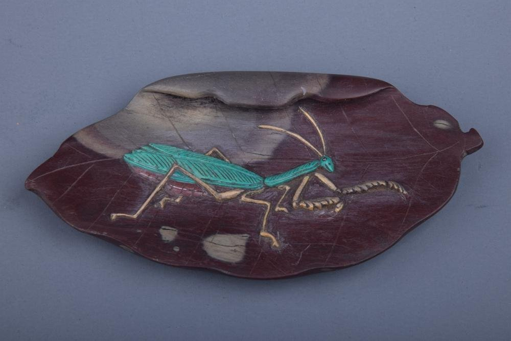 Chinese Ink Stone w Mantodea