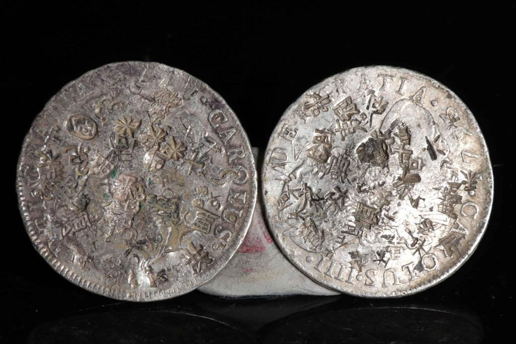 Two Spanish Silver Coin, 8R