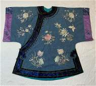 19th C Antique Chinese Silk embroidered Surcoat
