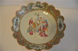 18th.C Chinese Famille Rose Porcelain Plate