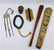 Group of Antique Chinese Court Collections