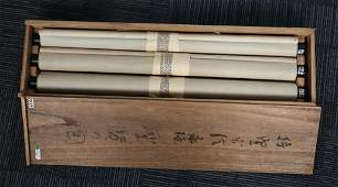 Three Chinese Ink Color Scroll Paintings