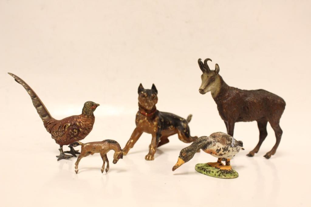 5 pc. Viennese Bronze Animals
