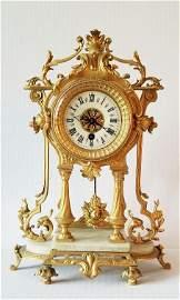 Antique French Gilt Bronze Clock