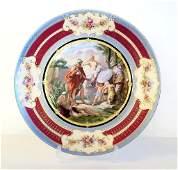 Large Antique Royal Vienna Porcelain Plate.