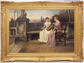 19C Oil Painting Jules Salles-Wagner (1814-1898)