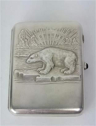 Russian Soviet Silver Cigarette Case