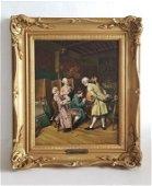 19C Oil Painting British John A.Lomax ( 1857-1923)