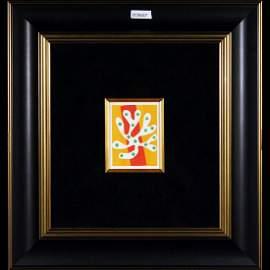 Henri Matisse-Algue Blanche Sur Fond Orange Et Rouge