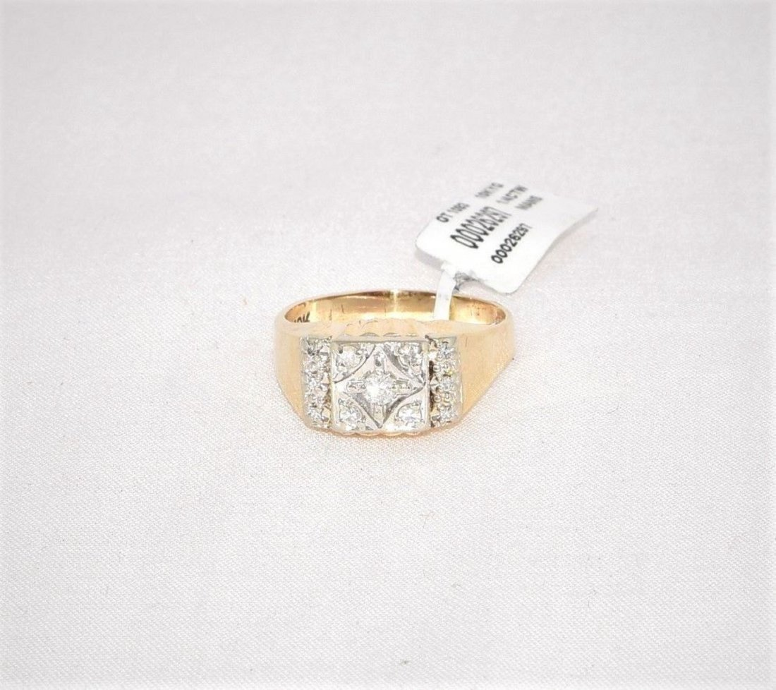 Keer & Kingsland Men's Diamond 10k Yellow Gold Ring