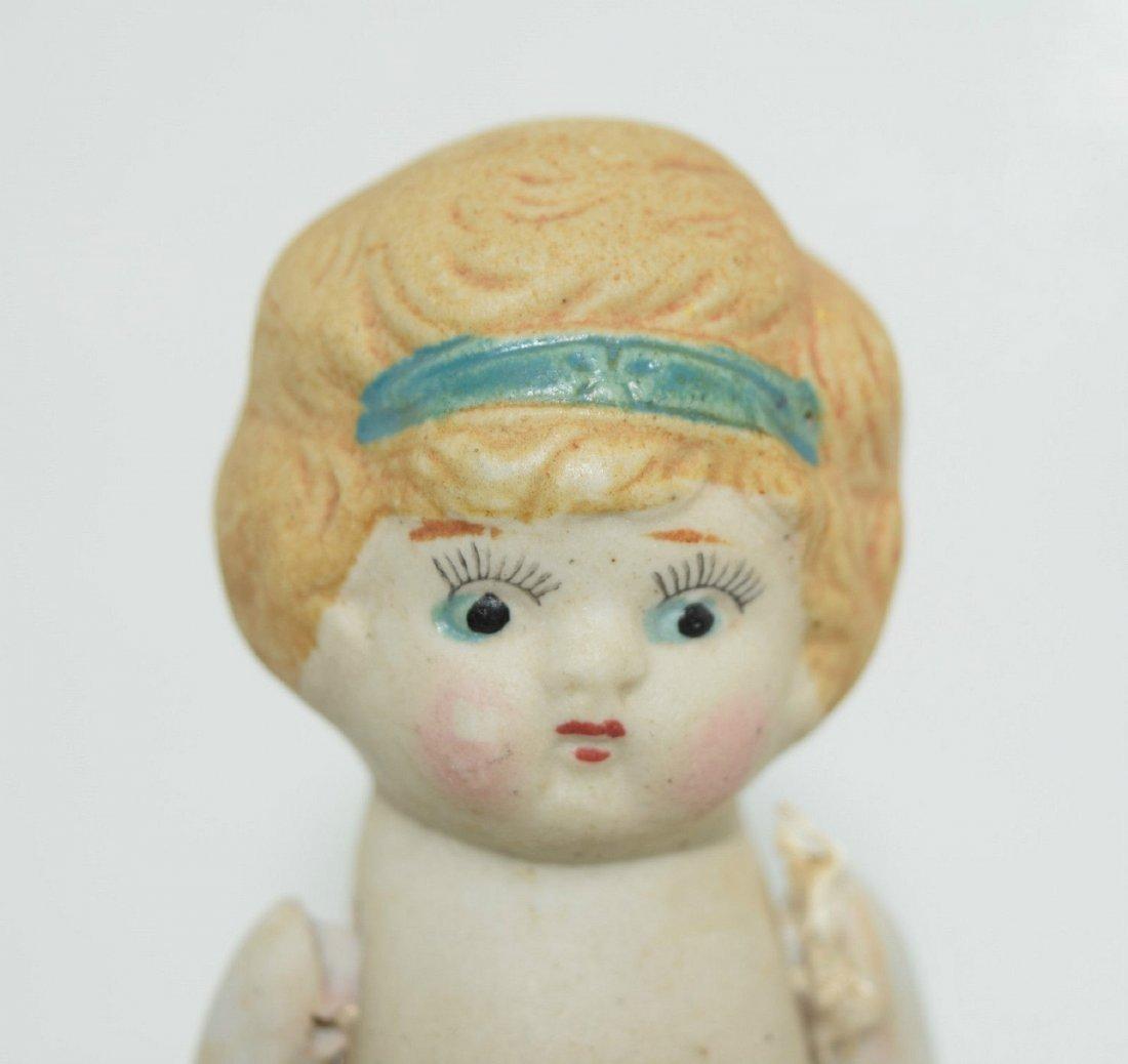 """Antique Kewpie Flapper 5"""" Frozen Charlotte Bisque Doll - 2"""