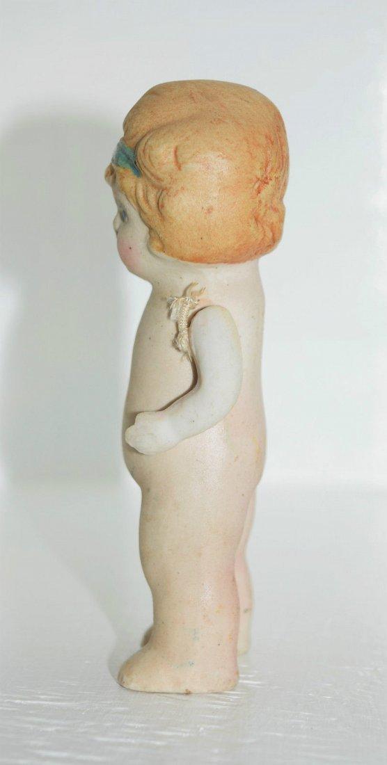 """Antique Kewpie Flapper 5"""" Frozen Charlotte Bisque Doll - 3"""