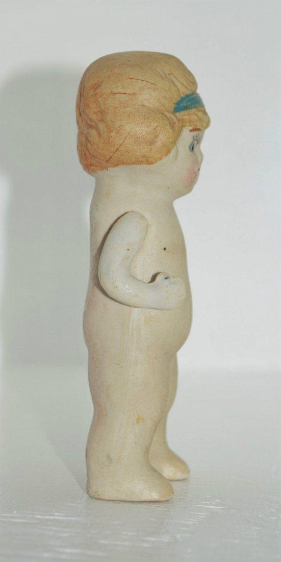 """Antique Kewpie Flapper 5"""" Frozen Charlotte Bisque Doll - 5"""