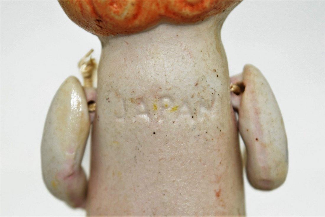 """Antique Kewpie Flapper 5"""" Frozen Charlotte Bisque Doll - 6"""