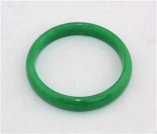 Chinese Apple Green Jade Bangle Bracelet