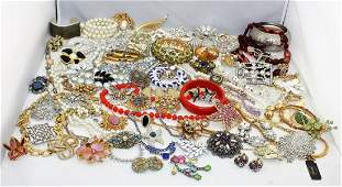 5 Lb Vintage to Modern Costume Jewelry Lot Many Signed