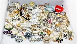 4 Lb Vintage to Modern Designer Costume Jewelry Lot