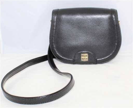 9896f9e500 Vintage Givenchy Black Leather Shoulder Bag