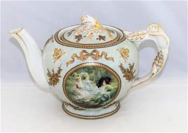 Antique 19th Century KPM Germany Porcelain Teapot