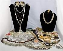 Large Costume Jewelry Lot 3.6 Pounds