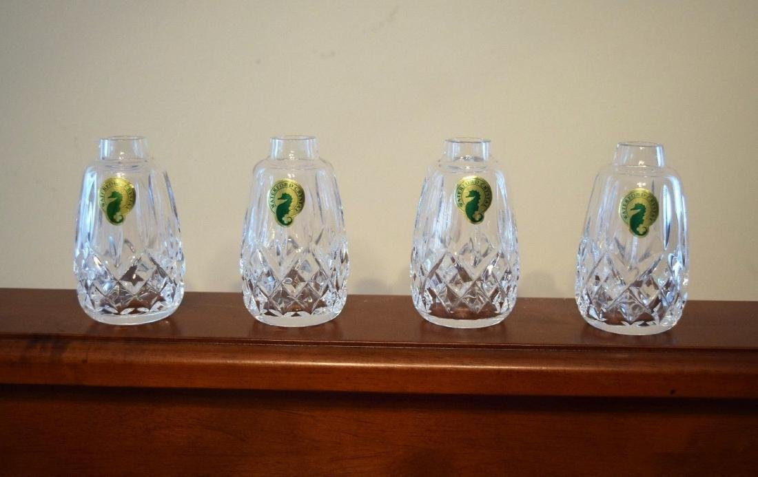 WATERFORD Lismore Cut Crystal Salt And Pepper Shakers