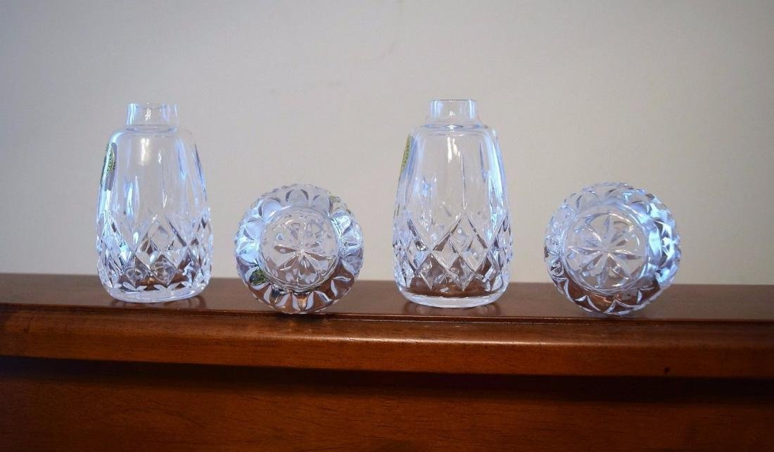 WATERFORD Lismore Cut Crystal Salt And Pepper Shakers - 4