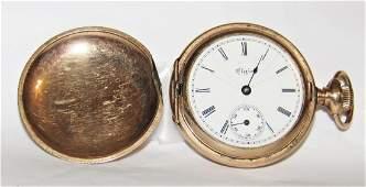 Antique 1890 Elgin 14K Gold Fille11 Jewel Pocket Watch