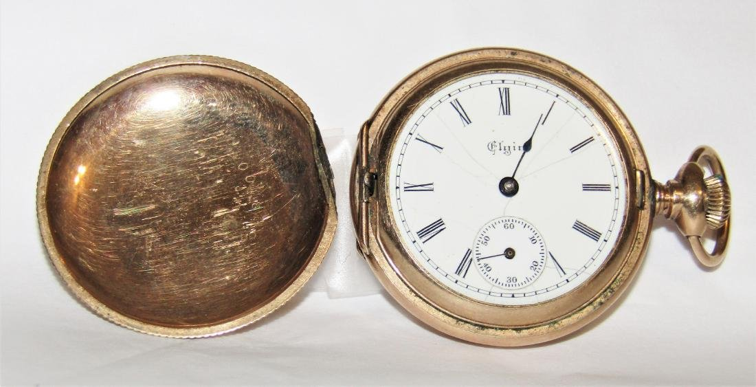 Antique 1890 Elgin 14K Gold Fille11 Jewel Pocket Watch