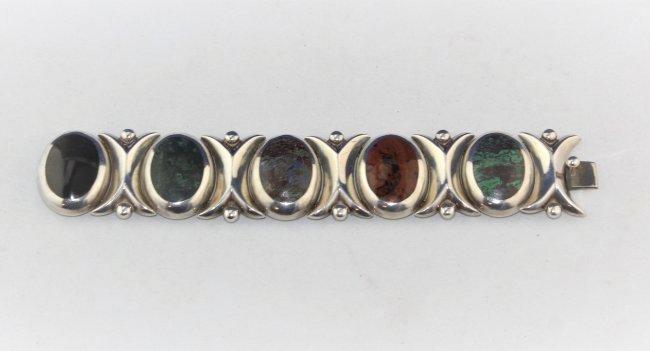 TAXCO Rancho Aledre Mexico Sterling Gems Bracelet 82 gr